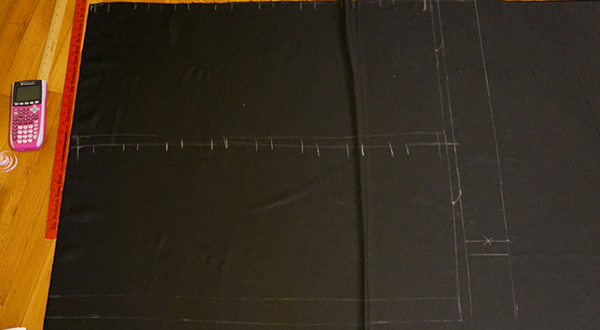 marking measurements for skirt